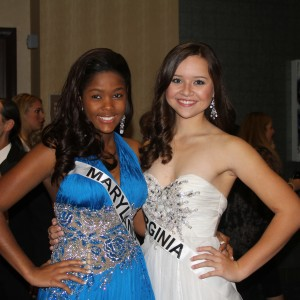 Miss Va Jr. Teen Sydni Alexander and Miss Md Junior Teen Joanna Chery - Team confidence after formal wear