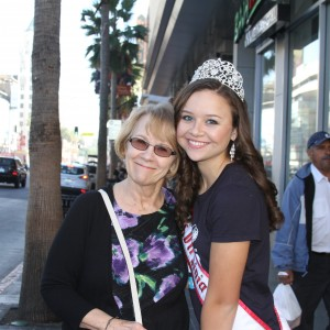 Miss Virginia Jr. Teen - Sydni Alexander - with her grandma GG in Hollywood