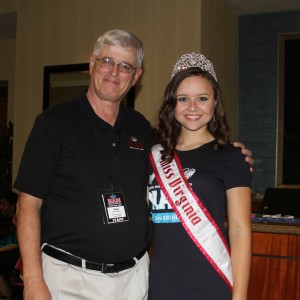 Director Lew Schneider with Sydni Alexander - Miss Virginia Jr. Teen