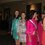 Miss Va Jr. Teen - Sydni Alexander - and fellow sister queens waiting in line for personal introduction