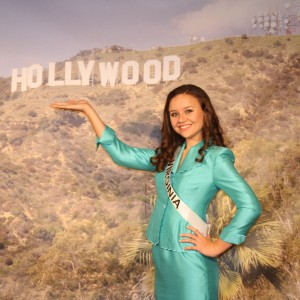 Miss Va Jr. Teen - Sydni Alexander - having fun with the Hollywood backdrop