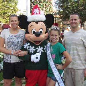 the Tiek family with Mickey