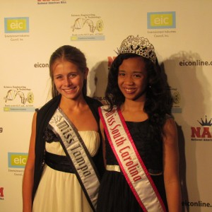 Miss Tampa & Miss South Carolina on the red carpet