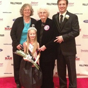 Miss NC Princess Faith Anne Yeley and Family in the Red Carpet room