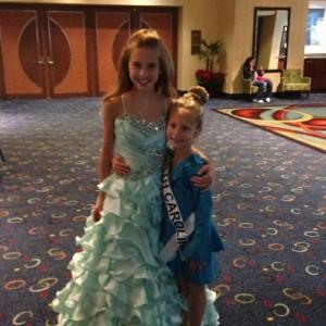 Miss North Carolina Princess Faith Anne Yeley with Miss North Carolina Pre-teen Hannah Gold