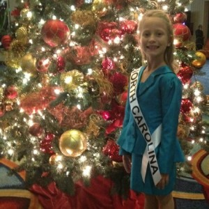 Miss North Carolina Princess Faith Anne Yeley ready to relax after interviews