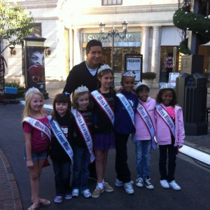 Princesses with Mario Lopez on Hollywood Tour Day