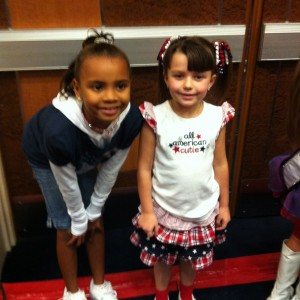 Baylie and Kenniston at Patriotic Rehearsal
