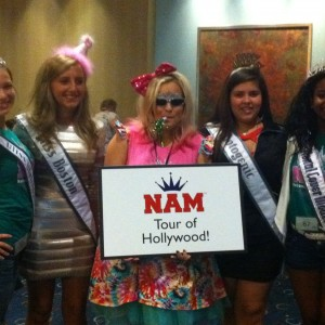 Adrienne Foret Miss Montville, CT Jr Teen with NAM Staff and Sign Bday 2012