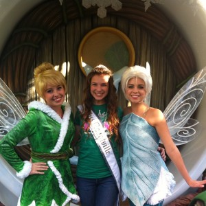 Adrienne Foret NAM Jr Teen Miss Montville, CT with Fairies at Disney, Cali, 2012