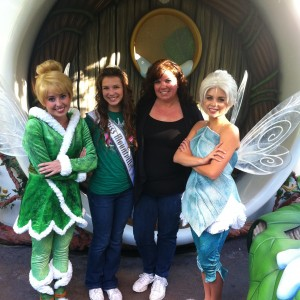 Adrienne Foret NAM Miss Montville, CT Jr Teen and Mom with fairies at Disney Cali 2012