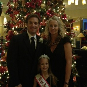 Miss North Carolina princess Faith Anne Yeley with her Mommy and Daddy