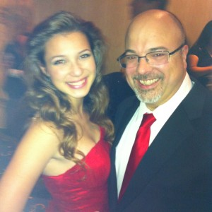 Adrienne Foret Miss Montville, CT Jr Teen with Father Dave Formalwear