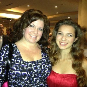 Adrienne Foret Miss Montville, CT Jr Teen with Mom Sharon Formalwear