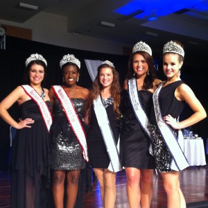 Adrienne Foret and National Queens at T'giving banquet