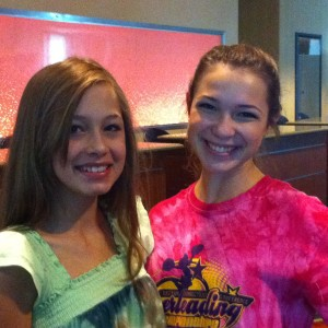 Adrienne Foret and Jessica Driesel the Project Runway Model for Ambition Jr Teen 2012