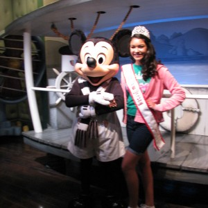 Alexis Cedeno Jr.teen With mickey mouse