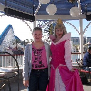Illinois State Ambassador (Pre-Teen) Bridget Dunn with Princess Aurora!