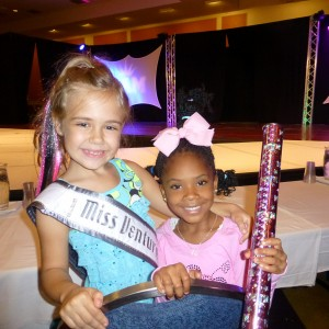 All American Princesses Alyssa deBoisblanc (CA) and Alliyssa Earle (AL) at Crazy Hair Rehearsal