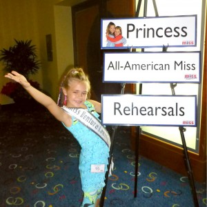 California All American Princess Alyssa deBoisblanc at Crazy Hair Rehearsal