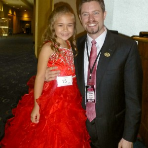 CA All American Princess Alyssa deBoisblanc with State Director Brian Cournoyer