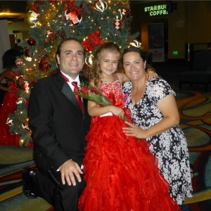 Princess Alyssa deBoisblanc with her Mom & Dad after Formal Wear