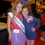 Princess Team Ambition California pals Alyssa deBoisblanc & Kaysee French at Patriotic Rehearsal
