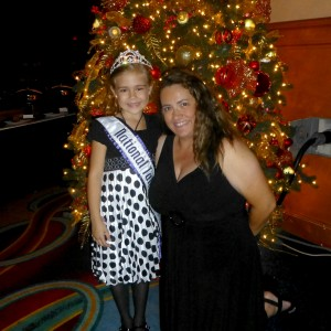 2012 Princess National Talent Winner Alyssa deBoisblanc and her Mom Bonnie at Thanksgiving Banquet