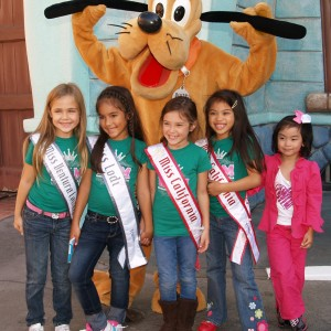 California Princesses hanging with Pluto!