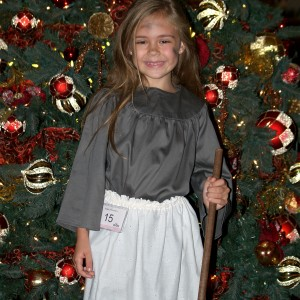Princess Alyssa deBoisblanc by Christmas Tree after Talent
