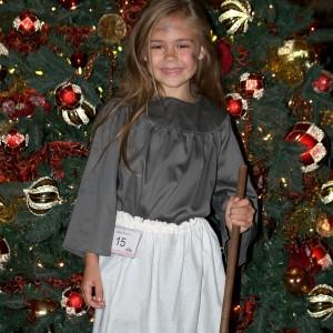 Princess Alyssa deBoisblanc by Christmas Tree after Talent