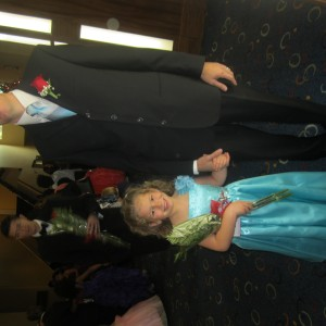 Cori and her proud Daddy!