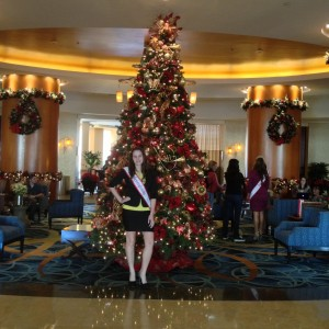 Ashley Miss PA 2012 by the Christmas tree