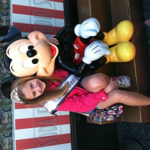 Laura Grace Henry with Mickey.