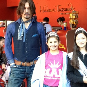 NAM Hollywood Tour 2012Marissa Hitt Miss Shawnee Jr pre-teen, Jin Mei Howell Young, Miss Oakland, Jr. Pre teen