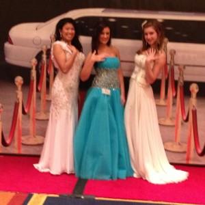 Kimberly Sabol, Madonna Mantione, and lauren Schwartzberg in the red carpet room