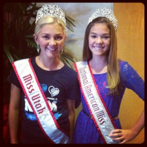 Kara Scott Miss Utah Preteen with Regan