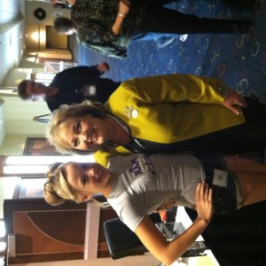Preteen Katie Klein with Director Lani Maples
