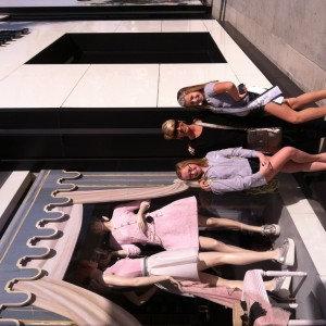 Preteen Katie Klein and family on Rodeo Drive