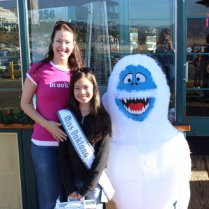 Christmas Time! NAM 2012- Jin Mei Howell Young, Miss Oakland April Howell Young (Mom) Abominable Snow Monster