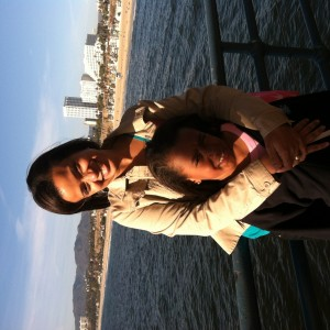 Kailyna Thomas and mom at Santa Monica Pier