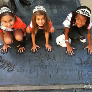 Kailyna, Hannah and Cristina Hollywood Walk of Fame