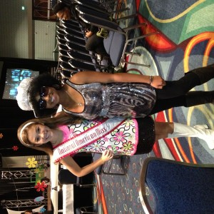 Deja Kenion and National American Miss Regan