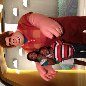 Deja Kenion and her little brother DJ hanging with Wreck it Ralph
