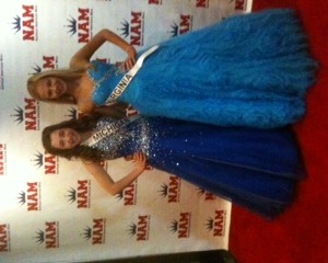 Pre-Teens Regan & Kailee looking pretty in blue!