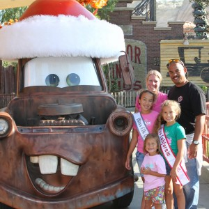 Sydney Ricks and family with the one and only Mater!