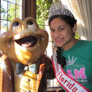 Florida Miss 2012 is with MR. TOAD