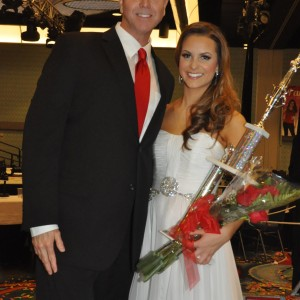 Camille Schrier 1st Runner Up Teen 2012 with Steve Mayes