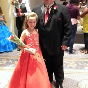 Kaitlyn Rigdon and Dad Formal wear style.
