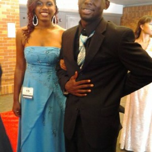 Tierhiecea Carpenter and her cousin Maurice headed to formal